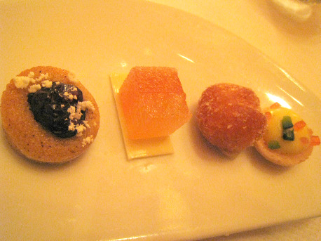 Petits fours: one plate per person. That's the way you do it.