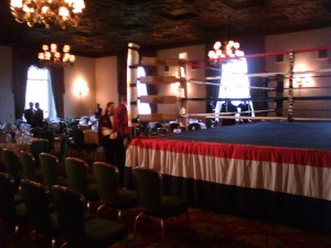 Yes, that's a boxing ring in the ballroom.