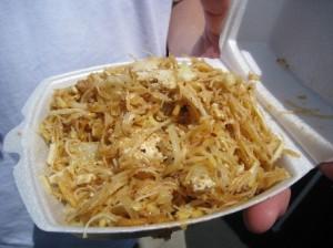 Burmese noodle salad.