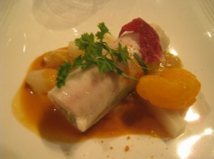 Butter poached dover sole, stuffed with a scallop mousse the menu forgot to even mention